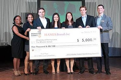 2012 Marketing Summit MBA 3rd place